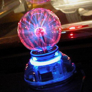 Free Shipping High-quality Glass Plasma Ball Sphere USB+vehicle-mounted+audio control+Gift box  Lightning Light Lamp Party