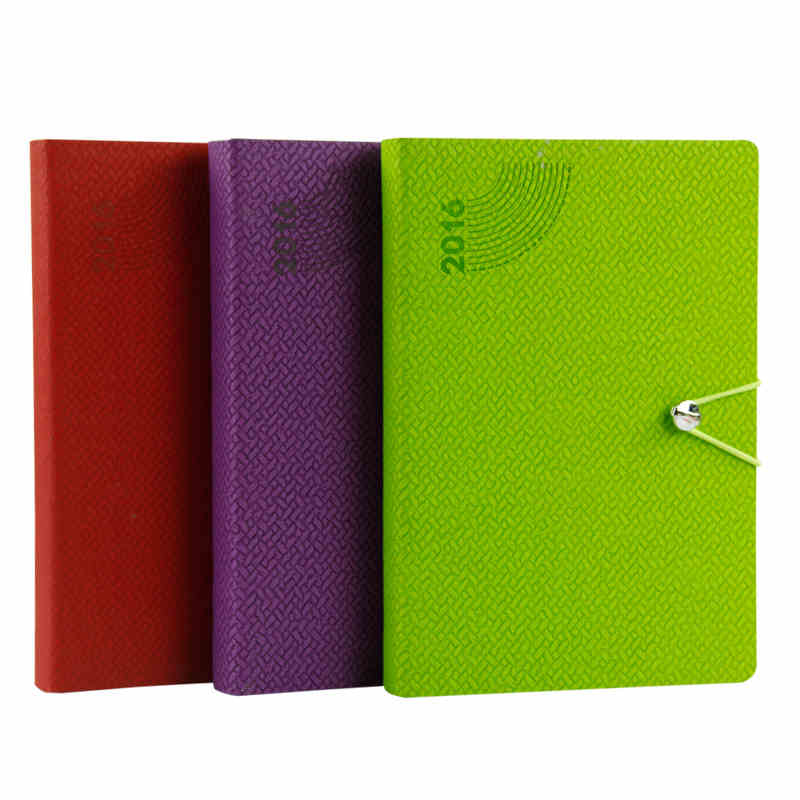 Agenda 2016 Day Planner A5 organizer Leather Diary Notebook paper 172 sheets Office School Supplies Gift(China (Mainland))