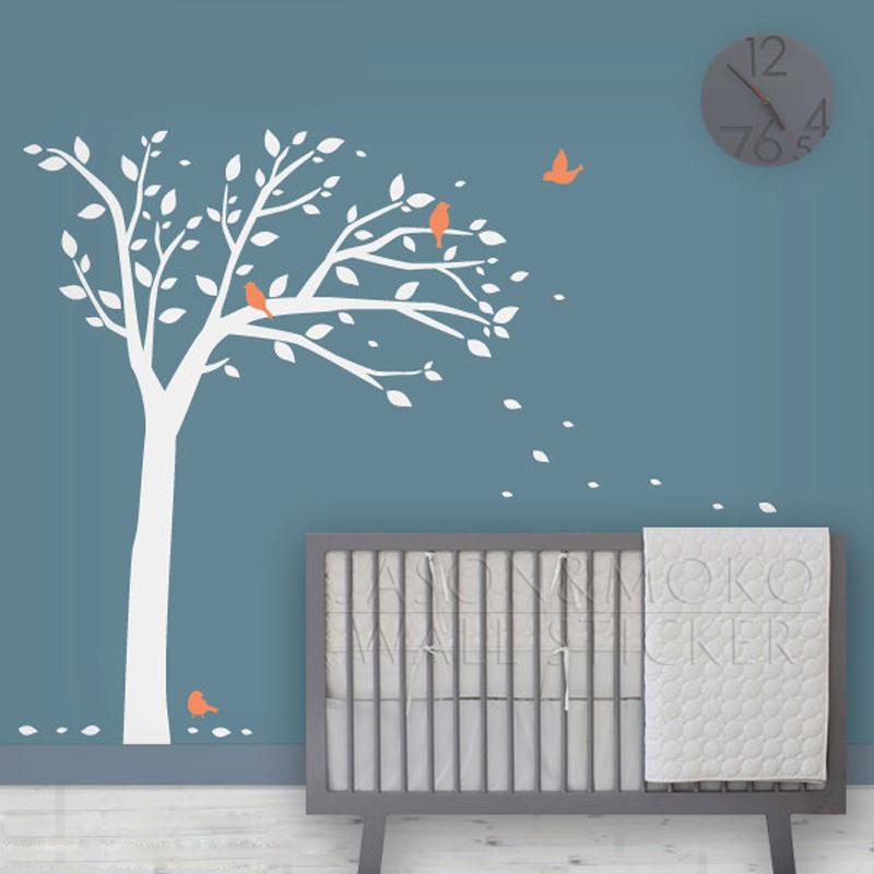 Tall Bird Arbre Vinyl Tree Wall Decals Sticker Art Kid Room Baby ...