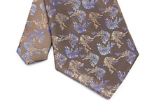 NT0234 Brown Blue Novelty Man s Classic Business Wedding Party Luxury Tie Fashion Jacquard Woven Silk