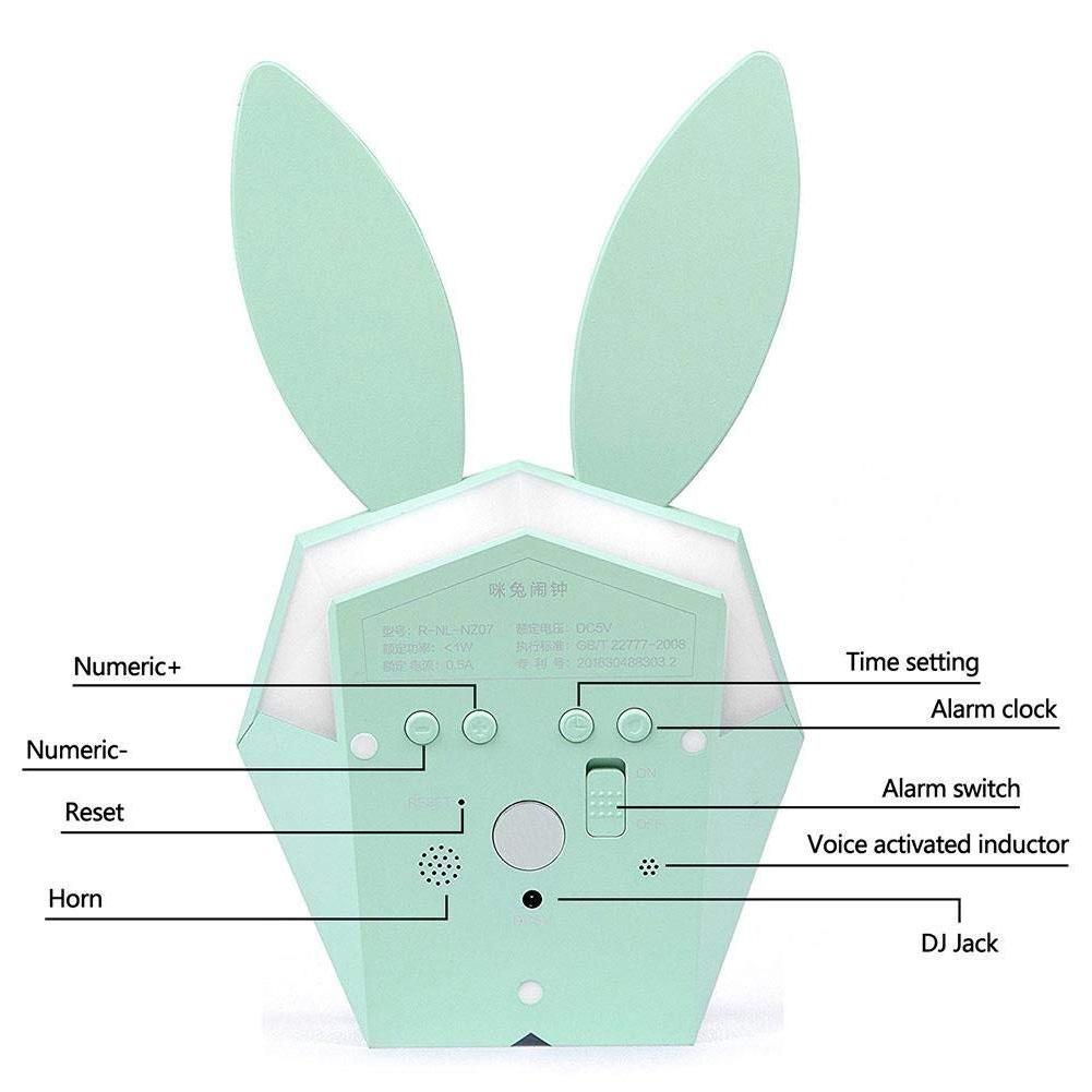 Настенный будильник ночник украшения светодиодный термометр кролик Настольный aeProduct.getSubject()