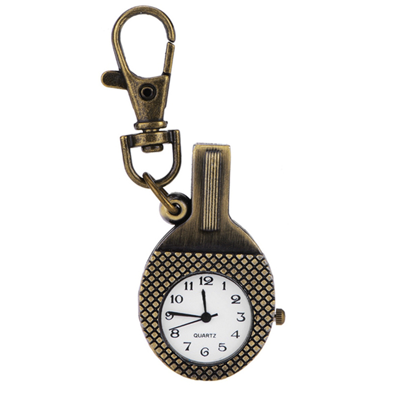 Necklace Sweater Chain Watch Vintage Jewelry Table Tennis Racket Pocket Watch PHM698W*60(China (Mainland))