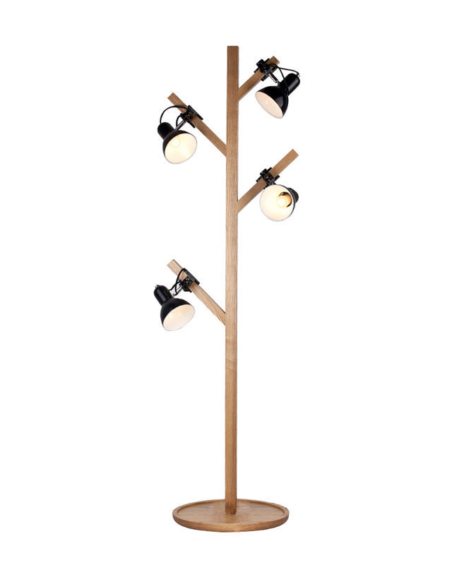 Ems free shipping floor lamps led tall tree shaped wooden for Tall tree floor lamp
