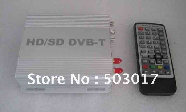 DHL Hot Sale car dvb t digital tv receiver HD DVB-T MPEG4 with HDMI USB  PVR and AV