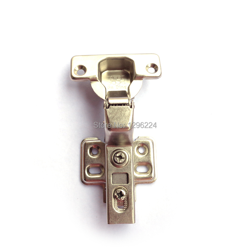 1 Pair Inset Hydraulic Cabinet Hinge Soft Close Brass Buffering Fixed Base(China (Mainland))