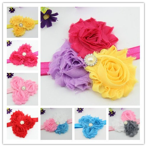 300pcs/lot Baby Girl Infant Hair Accessories Chiffon Ruffles Hair Flower for Headbands Children's Hair Accessories Kids Headwear