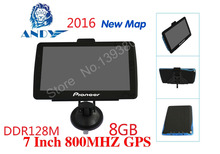 NEW 7 inch car GPS navigation MP3/MP4 FM / 800MHz ms2531 800*480 ddr128m America Europe Russia French Ukraine Spain 8GB CE6.0(China (Mainland))