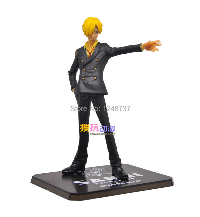 Free Shipping 15cm high One Piece After 2 Years Sanji PVC Action font b Figure b