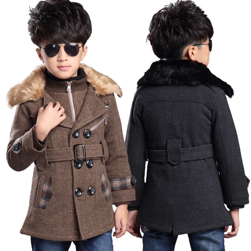 2015 autumn and winter childrens clothing boys coat outdoor warm wool woolen<br><br>Aliexpress