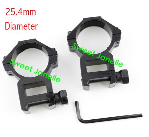24.5mm Medium Profile Double Nails Scope Mount Rings 20mm Rail Free Shipping(China (Mainland))
