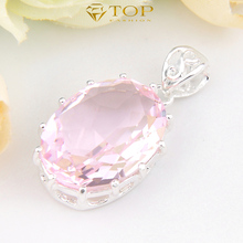 Free Transport – Vacation Reward Sizzling Promote Jewellery Pendant Candy Pink Topaz Pendant For Girls Wedding ceremony Celebration Bijoux P0093