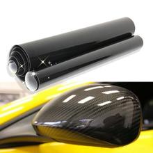 Buy 30/60*152cm Black 5D Carbon Fiber Vinyl Film Car Wrap Film Car Sticker Auto Exterior Accessories Film for $8.90 in AliExpress store