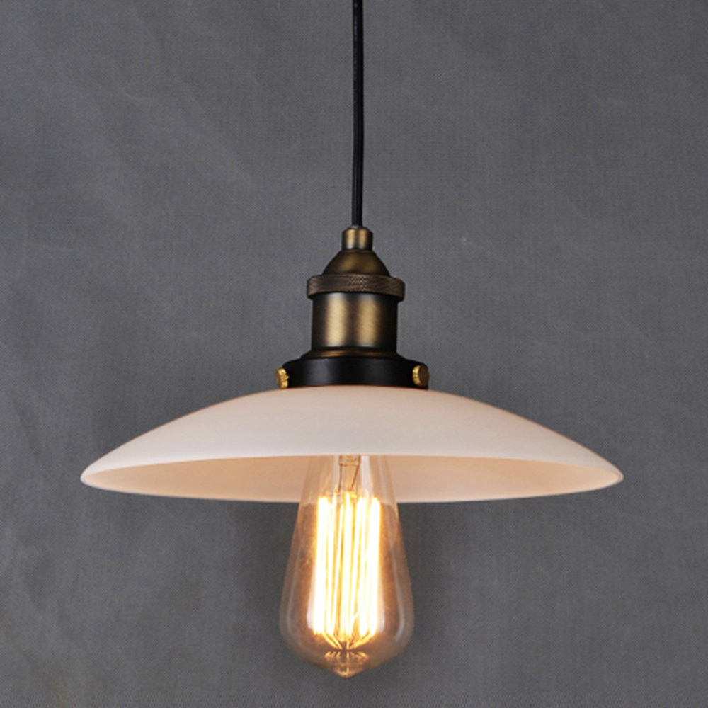 New European Loft Glass Pendant Lamp Creative Simple