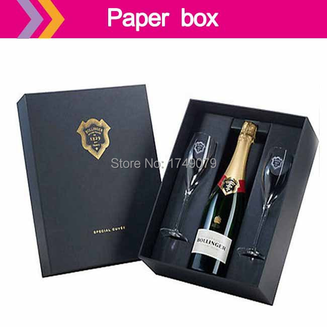 Handmade design champagne packaging box Valentines champagne wine bottle white boxes(China (Mainland))