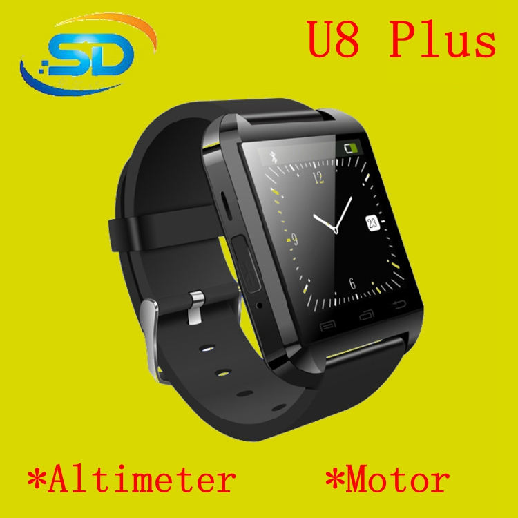 Bluetooth Smartwatch U8 U Watch Smart Watch Wrist Watches for iPhone 4 4S 5 5S Samsung S4 S5 Note 2 Note 3 HTC Android Phone Sma(China (Mainland))