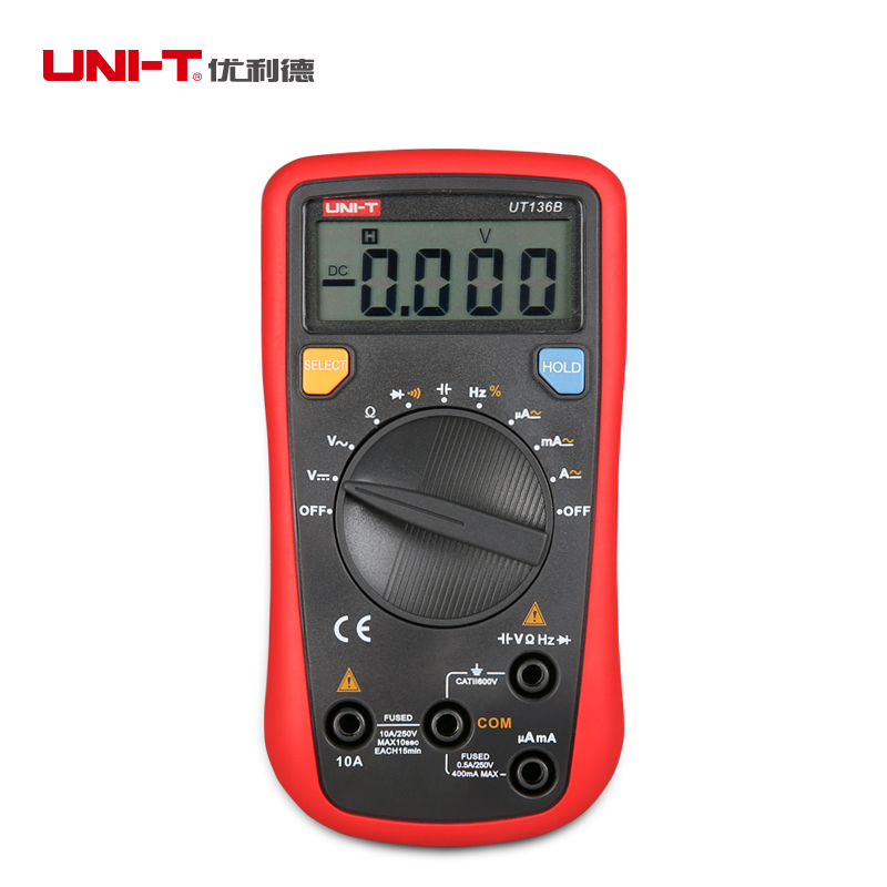 UNI-T UT136B Mini Auto-ranging Handheld Digital Multimeters AC/DC Current Voltage Resistance Multi Testers(China (Mainland))