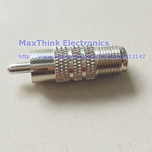 High Quality  F-type Female to RCA Male RF Plug Adapter Connector Coaxial Jack ,50pcs , Free Shipping