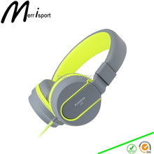 Headphones,Merrisport Headphones for Kids Adult with Microphone In-line Volume for iPhone 6/6S Xiaomi Android Device MP3/4 Grey