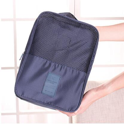 New Folding Shoes Storage Bag Travel Tote Zipper Pouch Ventilation Folding Portable Gym Waterproof Shoes Organizer(China (Mainland))