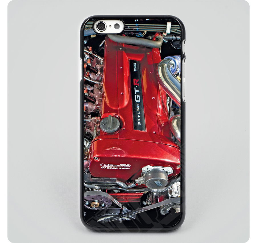 Free Shipping nissan skyline r34 engine Black Hard Skin mobile phone Cases Cover housing For iPhone 6 6 plus 5 5s 5c 4 4s(China (Mainland))