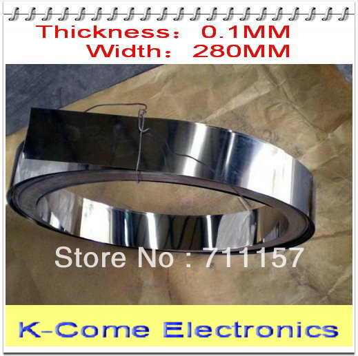 0.1mm Thickness 280mm Width 5M/lot Stainless Steel Sheet Plate Leaf Spring Stainless Steel Foil The Thin Tape(China (Mainland))