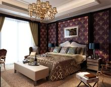 Wallpaper Non-woven Caesar Gold Continental Romantic Tapete For Living Room Bedroom Background Glitter Purple Sound-absorbing (China (Mainland))