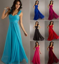 Stock A Line Chiffon Sweetheart One Shoulder Flowers Bridesmaid Dresses Wedding Party Dress Robe De Soiree Size4 6 8 10 12 14 16