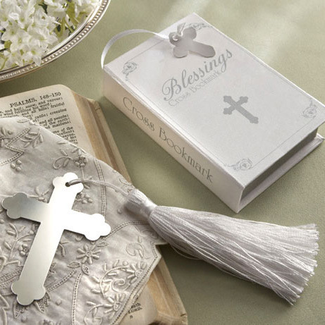 100PCS/LOT Blessings Silver Cross Bookmark with Tassel Wedding baby shower party favors gifts+Free shipping()