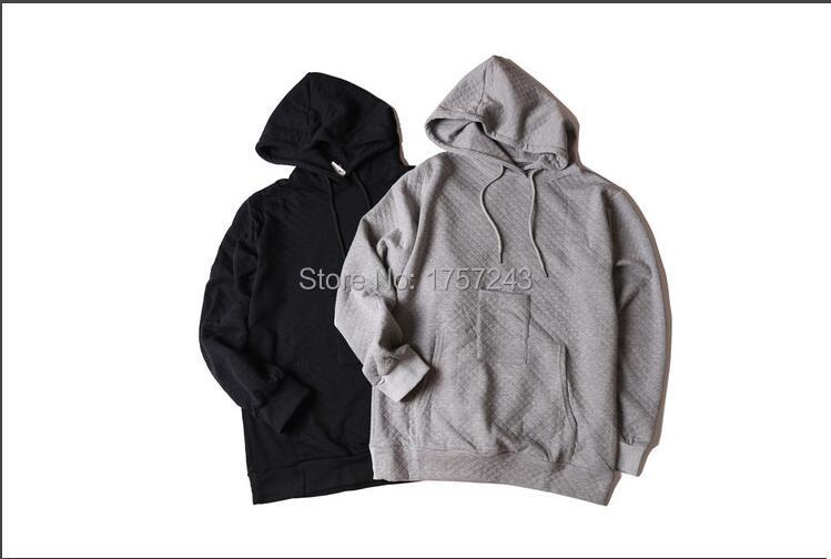 streetwear hip hop jacket kpop clothes owens fear of god mens hooded cloak black extended hoodie cool hoodies men clothing(China (Mainland))