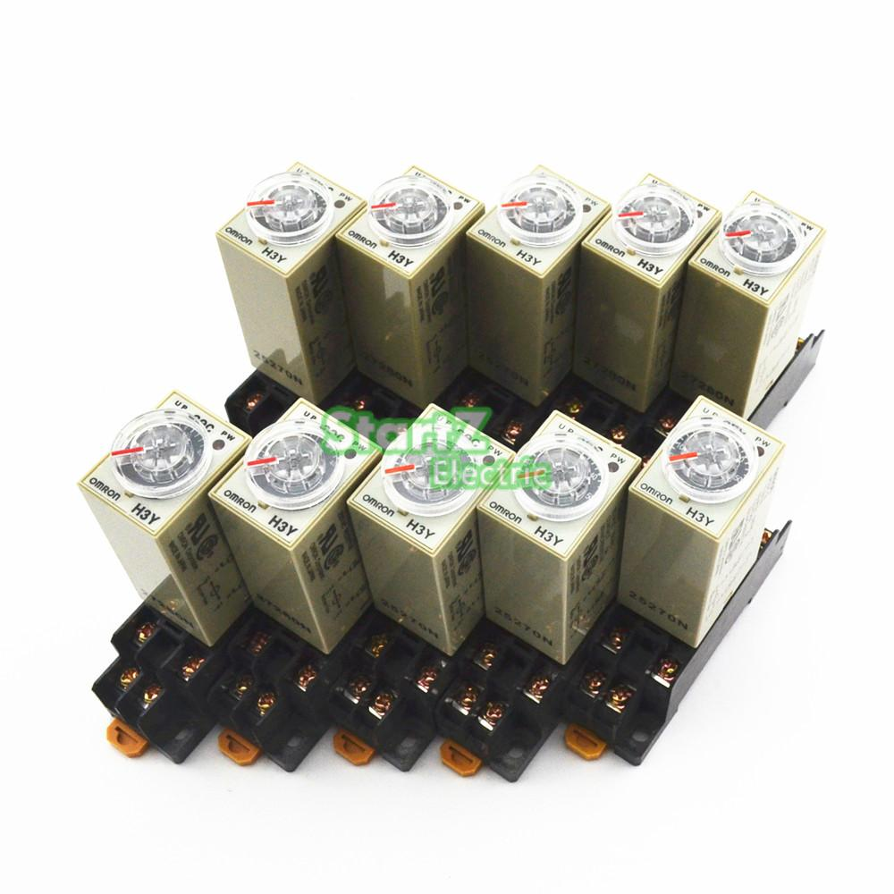 10Pcs H3Y-2 AC 110V Delay Timer Time Relay 0 - 1S with Base<br><br>Aliexpress