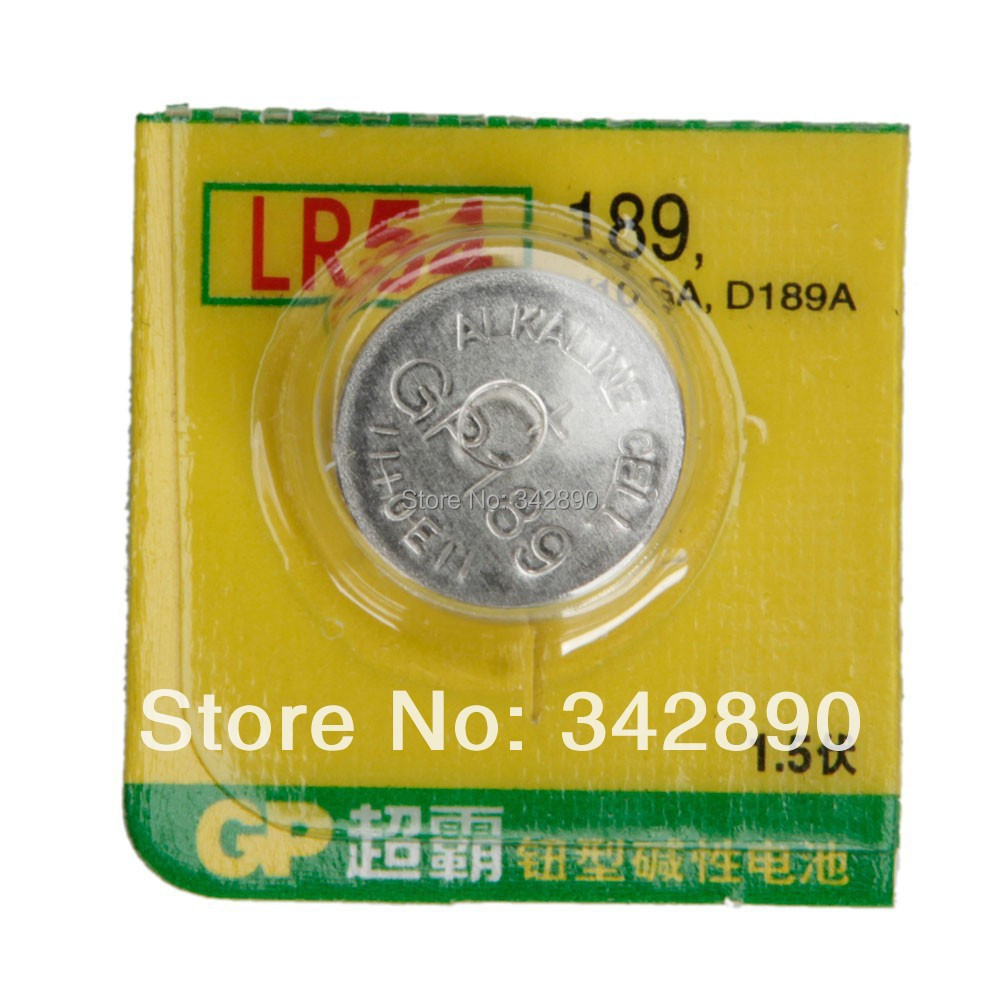 Wholesale 10Pcs Original Authentic GP Cell Button Alkaline Battery AG10 LR1130 AG10 LR54/189 Button Cell BatteriesFreeshipping(China (Mainland))