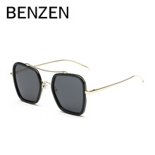 BENZEN Polarized Sunglasses Women Vintage Square Female Sun Glasses Colorful UV Ladies Shades Accessories With Case 6181