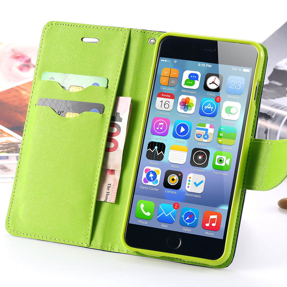 New Fashion Ultra Flip PU Leather Case For Apple iPhone 6 4.7 For iPhone 6 Plus 5.5 inch Card Slot Wallet Holster Cover i6/ i6+(China (Mainland))