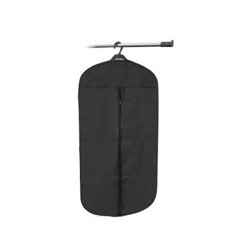 Black Travel Suit Wedding Cover Skirt Dress Garment Coat Shirt Bag Carrier FREE SHIPPING(China (Mainland))