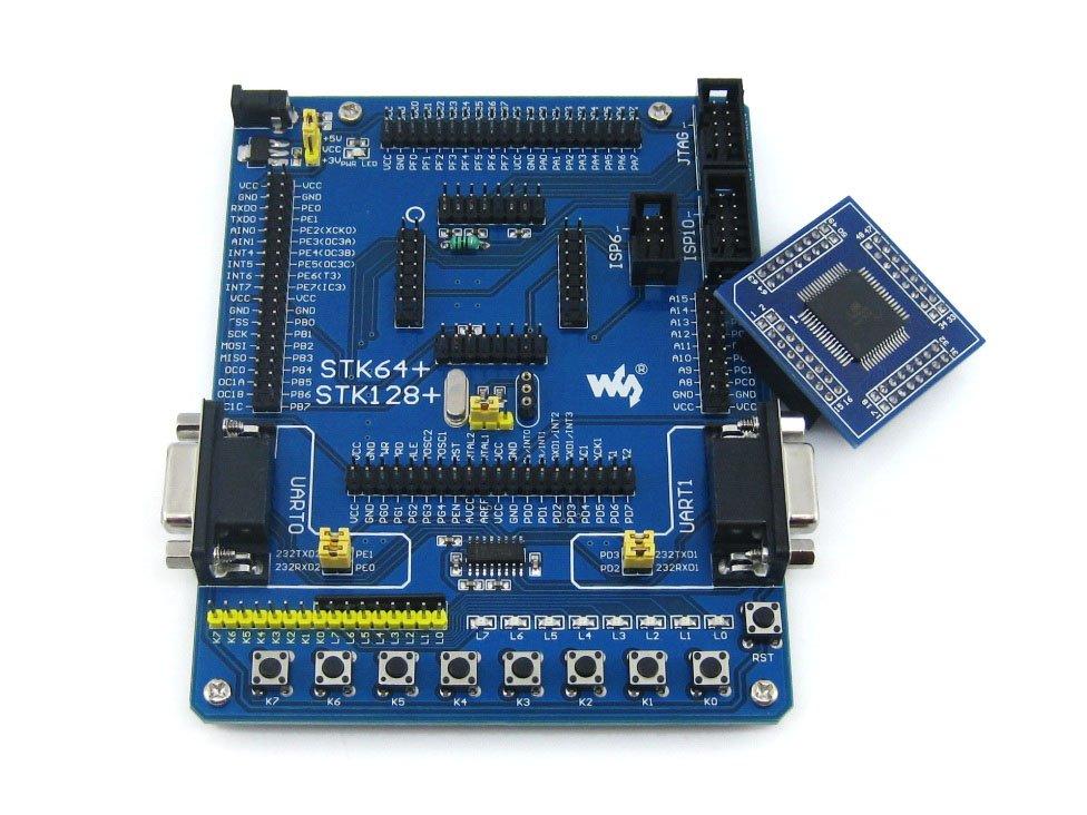 ATmega128 ATmega128A ATMEL AVR Evaluation Development Board Kit + 2pcs ATmega128A-AU Core Board(China (Mainland))