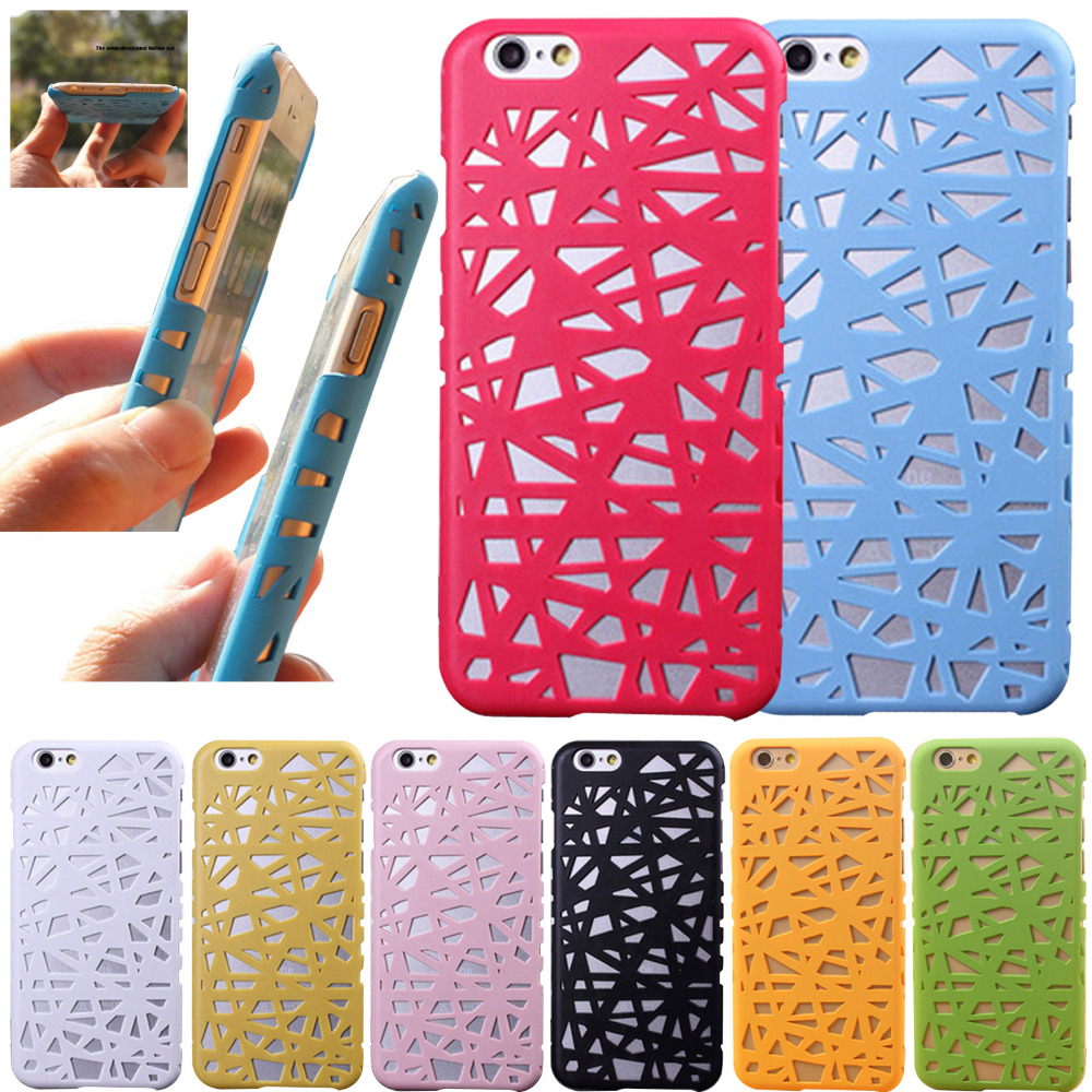8 Colors New Bird Nest Mesh Hollow Design Hard Back Case Cover for Apple iPhone 5 5G 5S 6 6S(China (Mainland))
