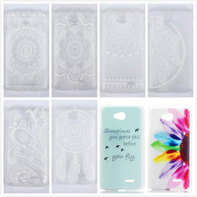 New Hard Plastic Phone Back Case Cover Shell For LG Optimus L70 D325 MS323 Exceed 2 Flower Feather Design Free Shipping,PT204