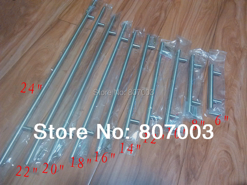 "Diameter 12mmStainless Steel Kitchen Door Cabinet T Bar Handle Pull Knob 2"" ~ 24''(China (Mainland))"