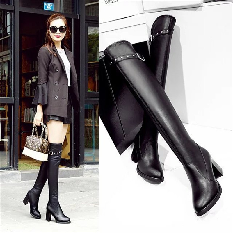 Compare Prices on Sexy Thigh High Leather Boots- Online Shopping