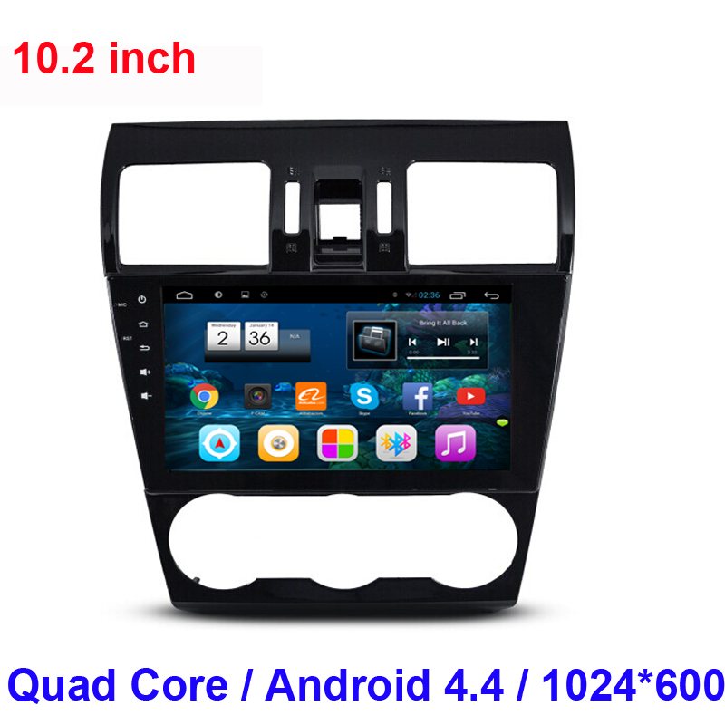 1024*600 2 din Android 4.4 CAR DVD Player GPS navigation FOR Subaru Forester 2012 2013 2014 WIFI 3G radio stereo DVR OBD II(China (Mainland))
