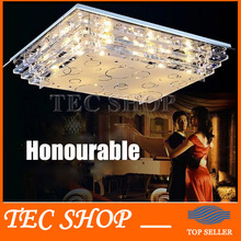 Best Price JH Modern LED Rectangle Ceiling Lights Living Room Restaurant Crystal Light LED Lighting Fixtures Indoor Decoration(China (Mainland))