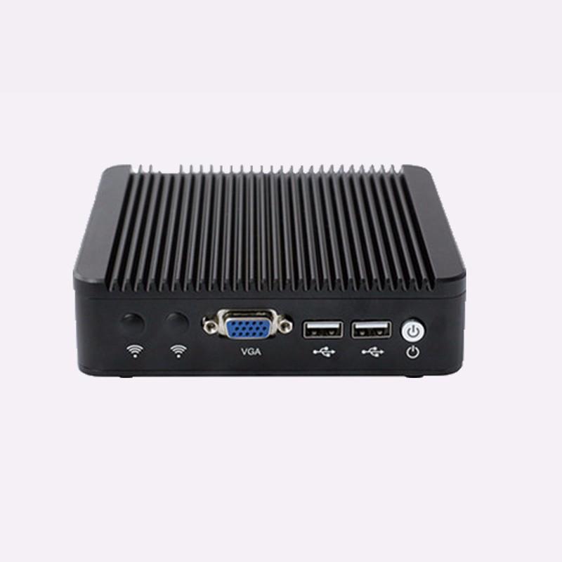 Server PC with Fanless 12v DC Power Supply Celeron quad core ubuntu Linux 1080p pc(China (Mainland))