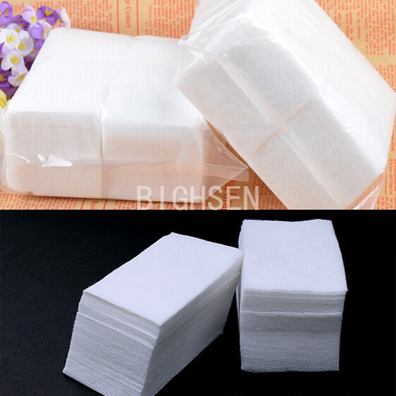 400 Sheets/Lot Soft Wipes Clean Paper Cotton Pads Nail Polish Remover Make-Up Nail Art Tools White Removers 4x6cm BRE0003