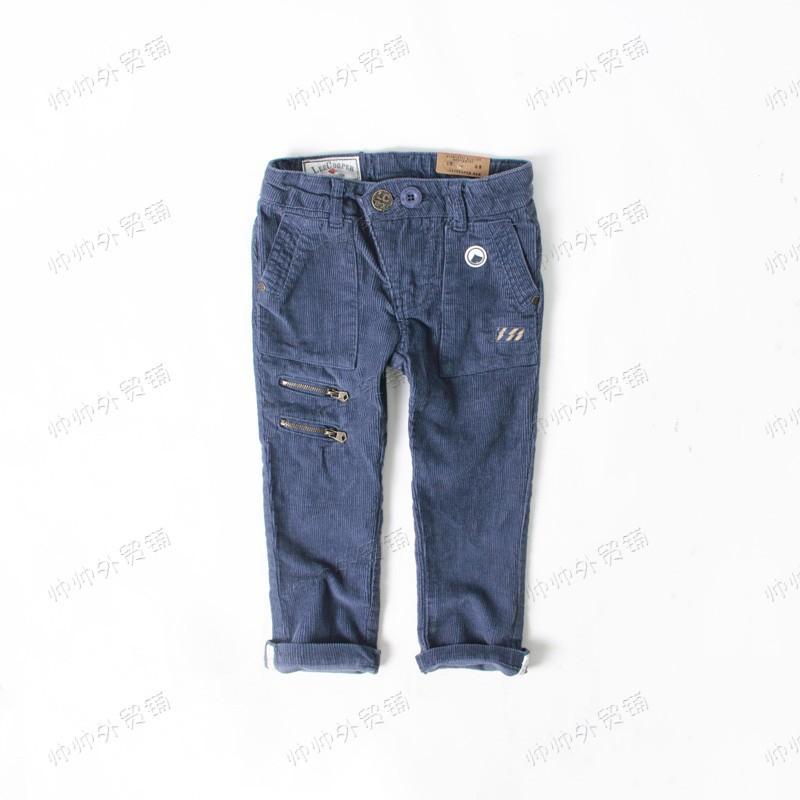 boy baby Corduroy casual pants trousers Dark Blue<br><br>Aliexpress