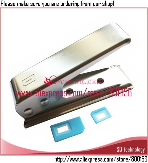 Micro Sim to Nano Sim Card Cutter + 2pcs Adapter for iPhone 5 5G free shipping