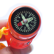 Outdoor Camping Multifunction Whistle/Flint/Capsule/Compass/Signal mirror (12cm) Free Shipping(China (Mainland))