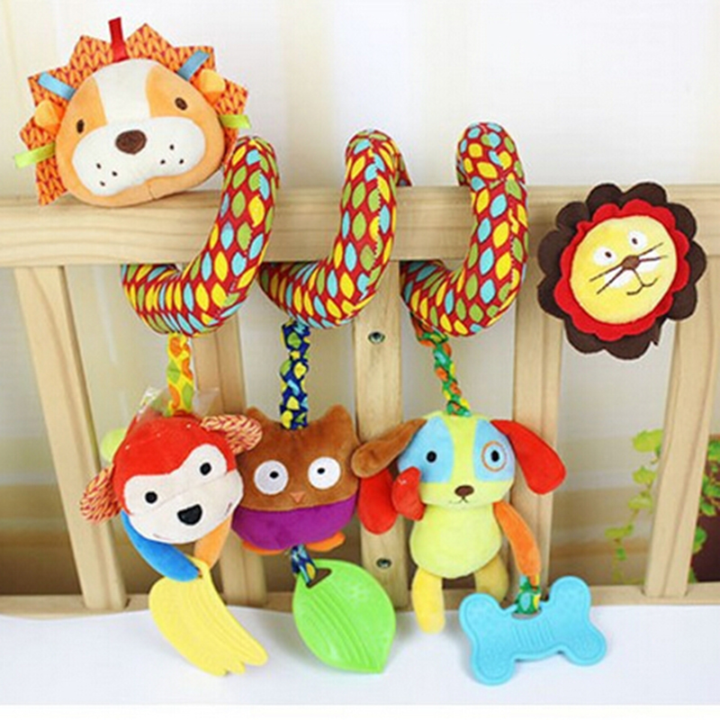 Newborn Baby 0-12 Months Toys, Crib Stroller Bed Hanging Bell Music Rattles &amp; Mobiles Plush Educational Toys for Kids B503<br><br>Aliexpress