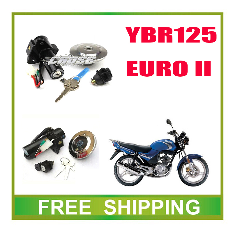 EURO II YBR125 ignition key switch lock key fuel tank key full set 125cc ybr motorcycle accessories free shipping(China (Mainland))