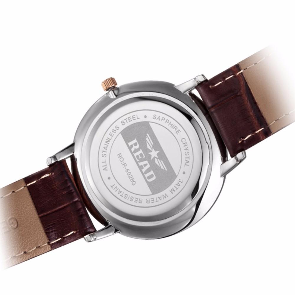 Творческий минималистский Стали кожа нормальная водонепроницаемый ЧИТАТЬ часы мужчины и женщины пара часы моды бизнес случайный часы