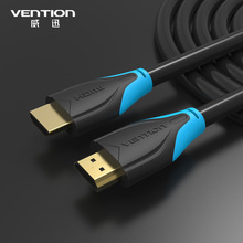 Vention Nylon Braid HDMI CABLE 1m 1.5M 2M 3M (3FT-16FT) Male to Male Gold Plated Connection For Computer XBOX HDTV